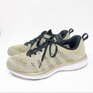 """APL  WOMENS PRO SILVER/GOLD SNEAKERS 7.5"""""""